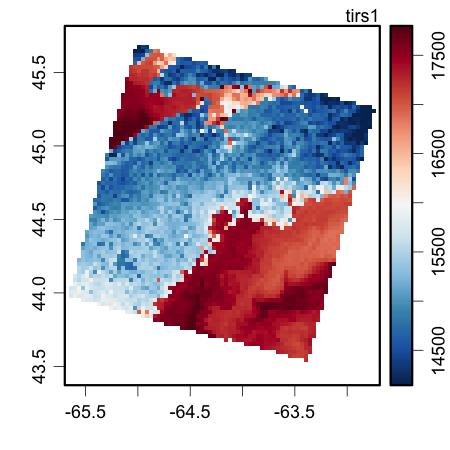 Sample landsat image plot.