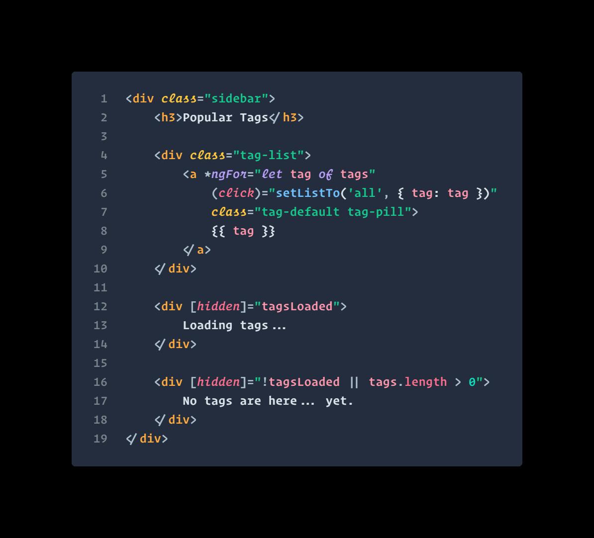Angular HTML