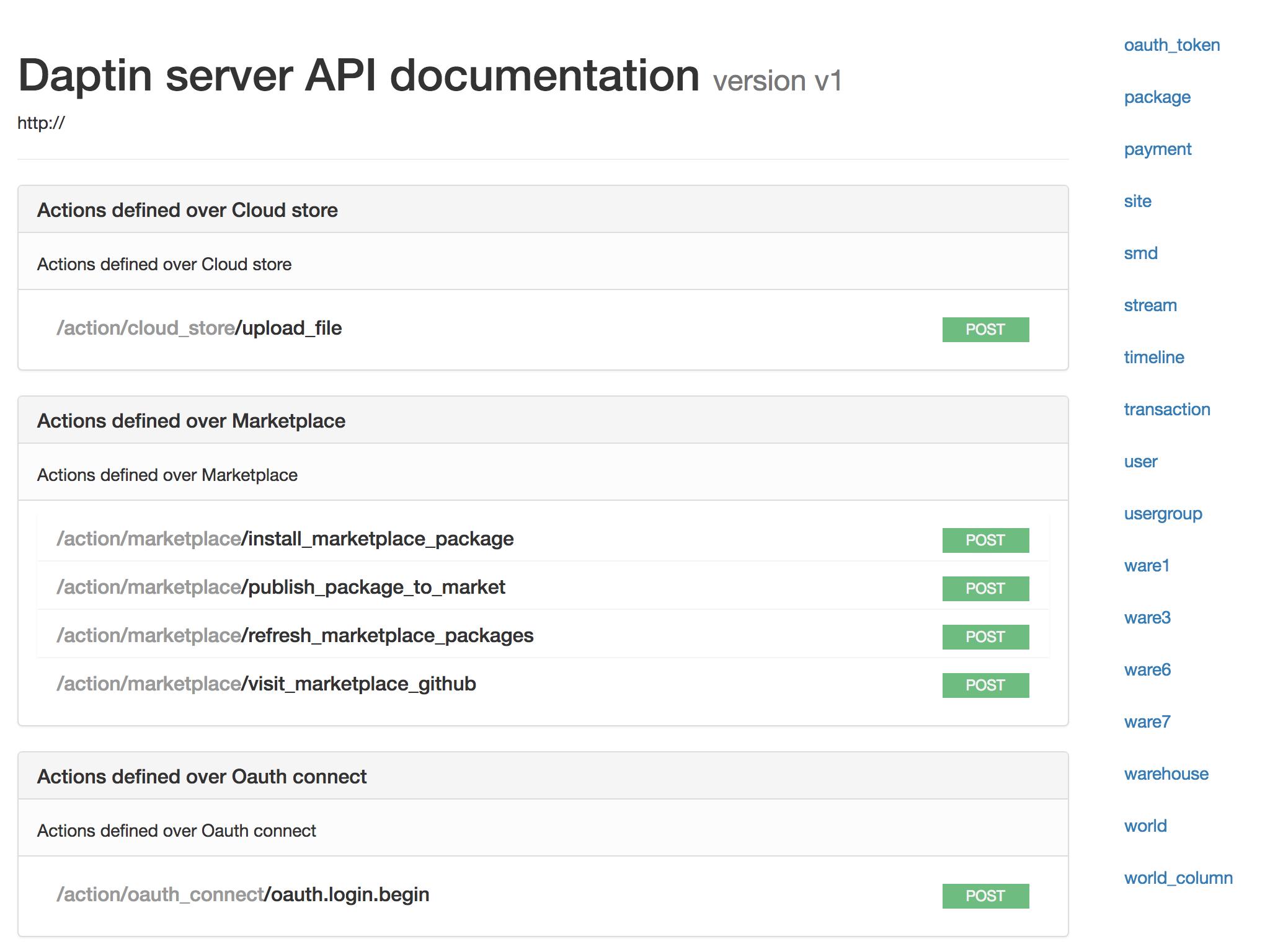 YAML API documentation