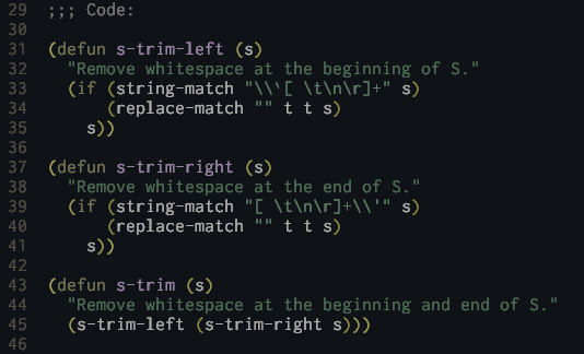 lisp preview