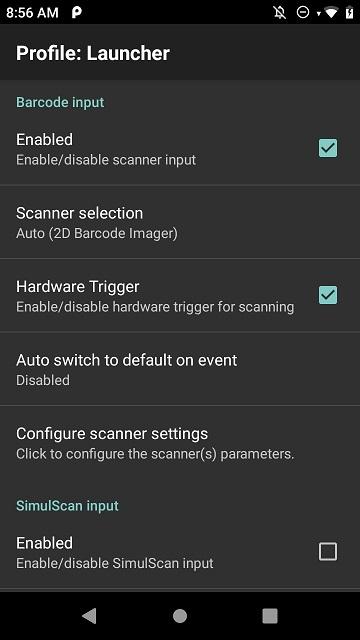 Launcher Input
