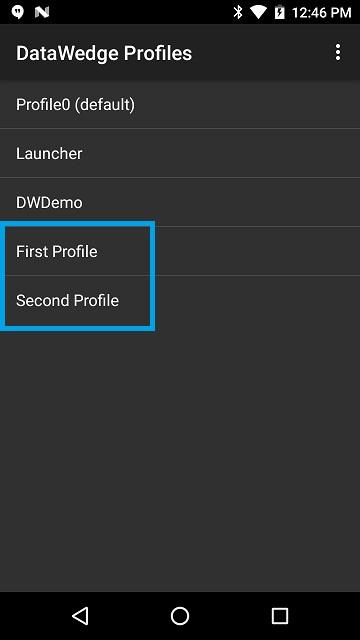 DataWedge Profiles