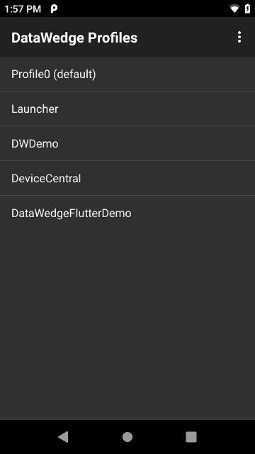 DataWedge configuration