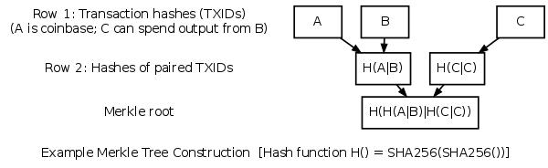 Example Merkle Tree Construction