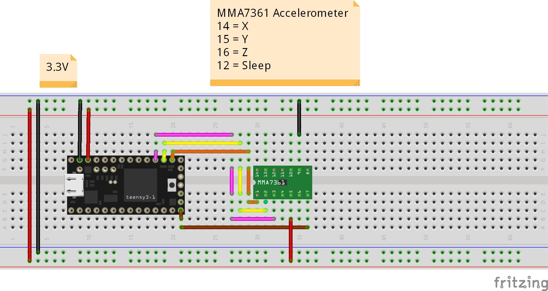 MMA7361 Wiring Diagram