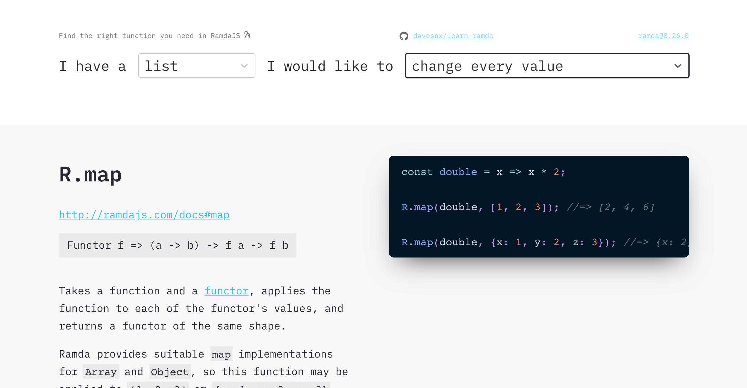 learn-ramda website screenshot