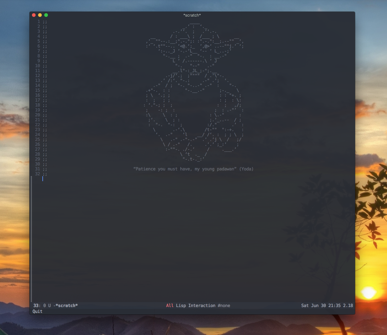 Emacs scratch buffer