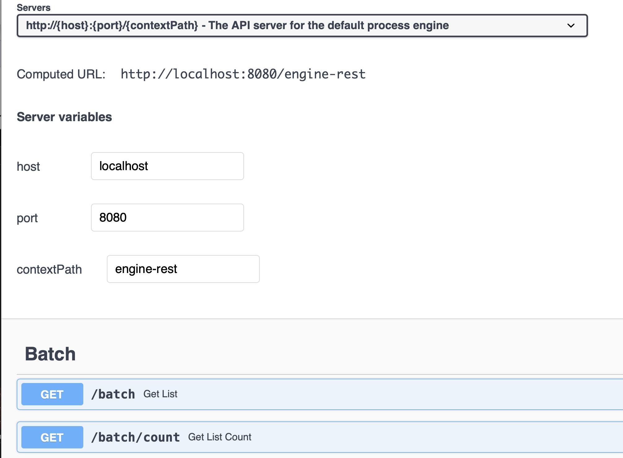 Screenshot showing the API server on port 8081
