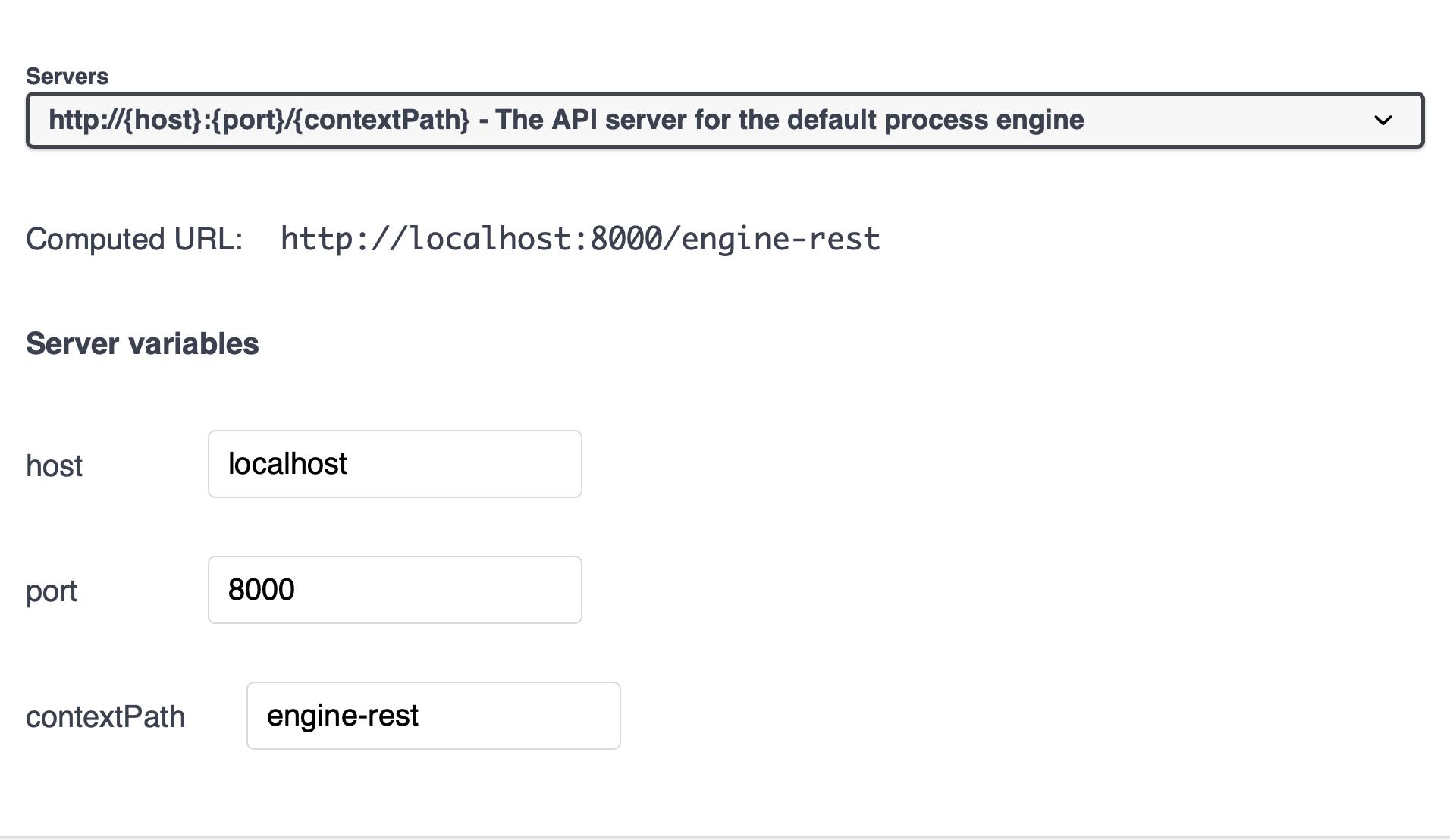 Screenshot showing using port 8000