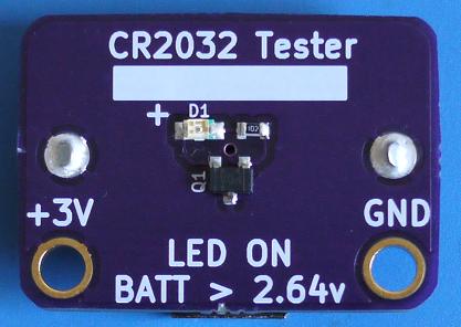 CR2032 tester