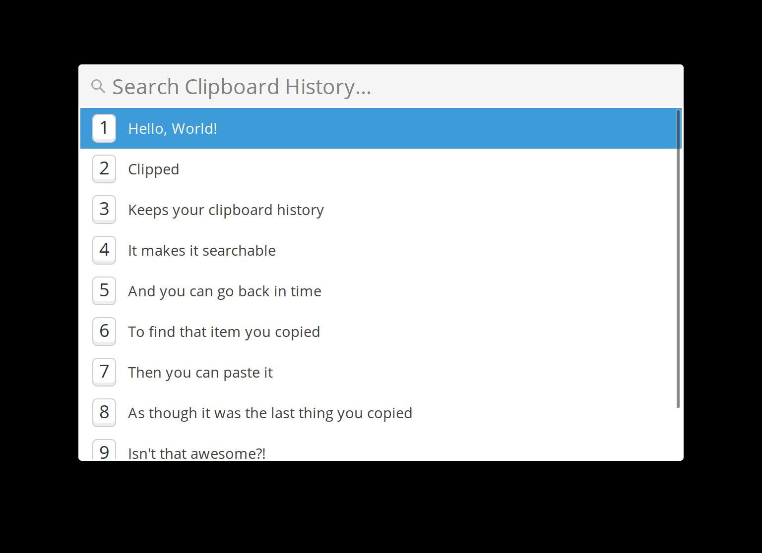 Clipped Screenshot
