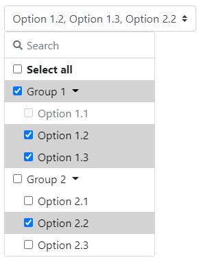 Example of a multiselect.