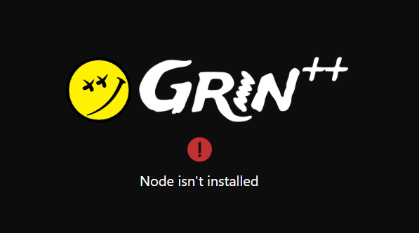 Node isn't installed