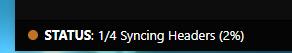 Syncing Headers