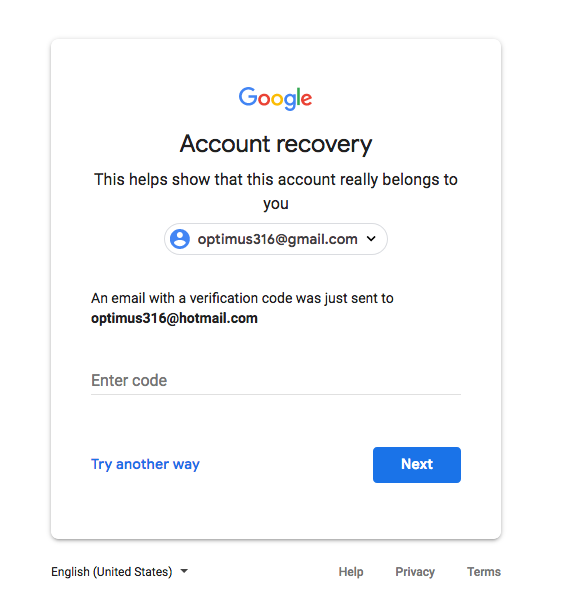 Google recovery