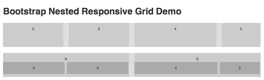 Bootstrap Nested Responsive Grid Demo