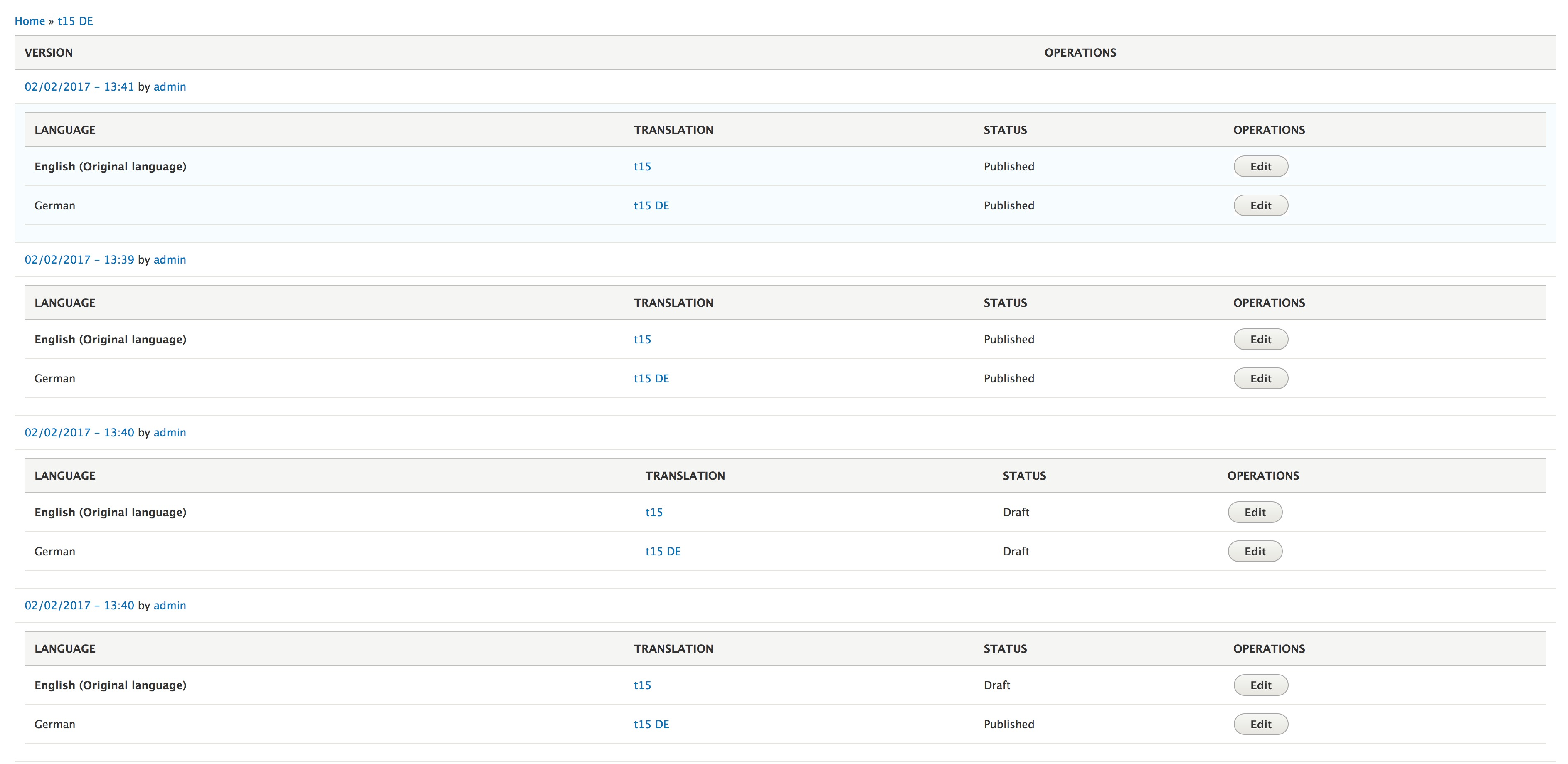 Screenshot of the moduel UI