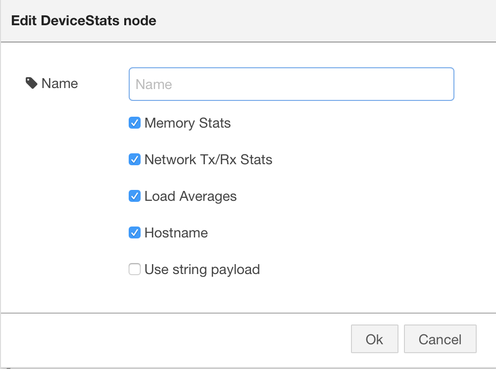 Device Statistics Node