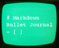 Markdown Bullet Journal Logo