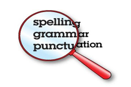 Spelling grammar punctuation mistakes