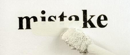 Erase mistakes