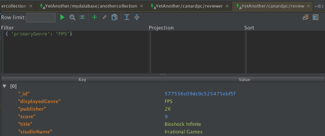 Simple query view
