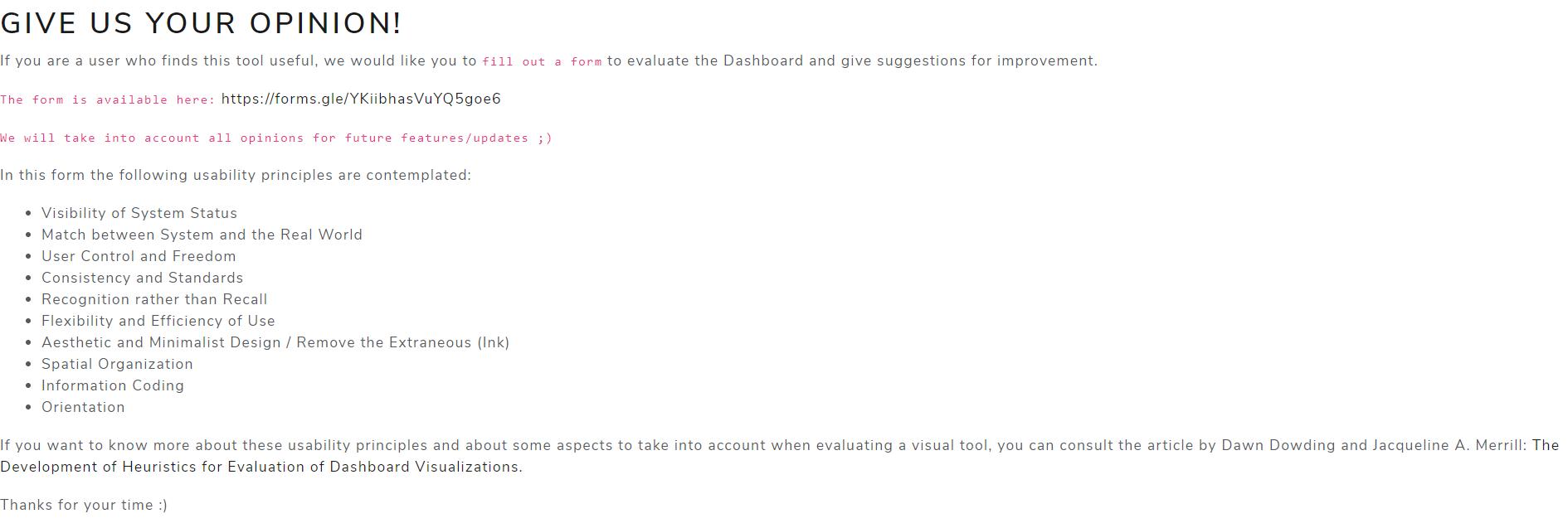 Evaluation Tab