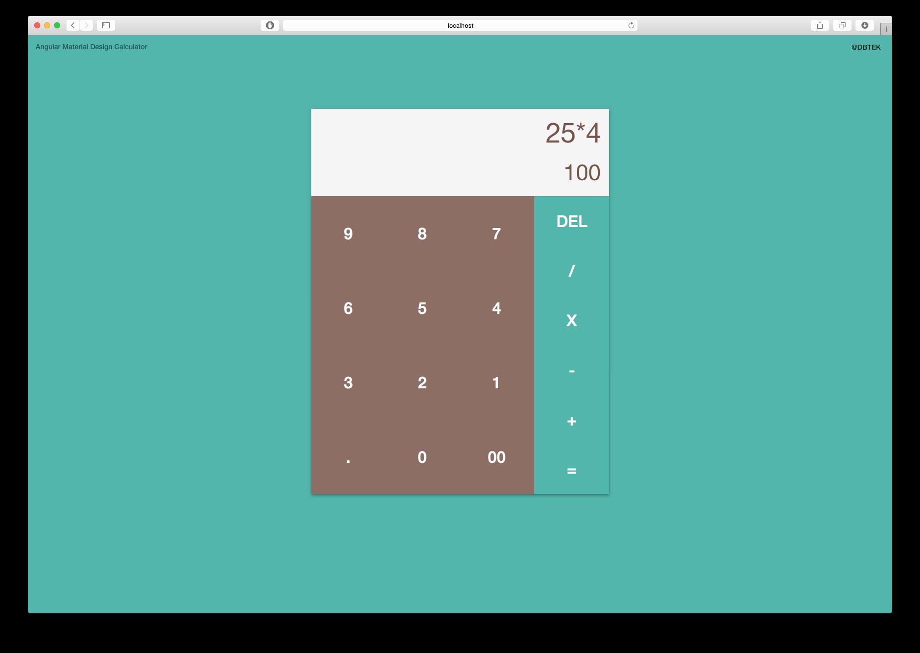 Material Design Calendar Github : Github dbtek angular material calculator sample