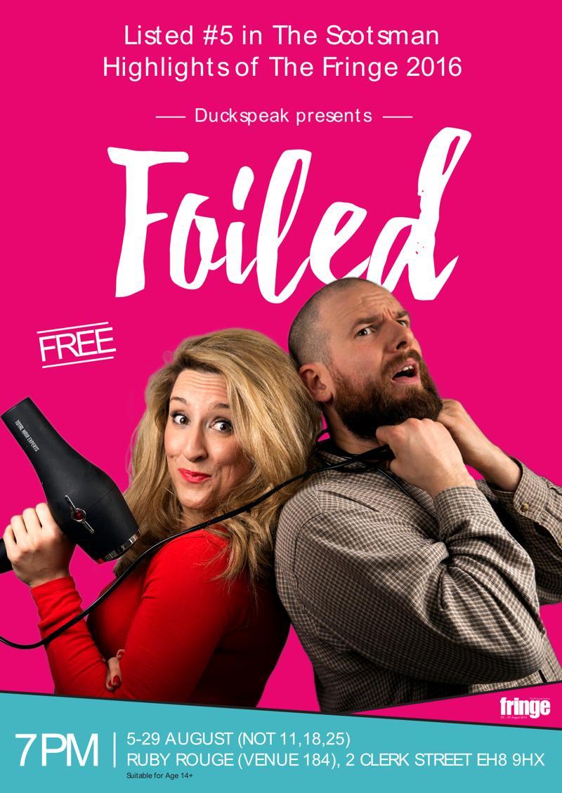 Foiled Edinburgh Fringe Flyer