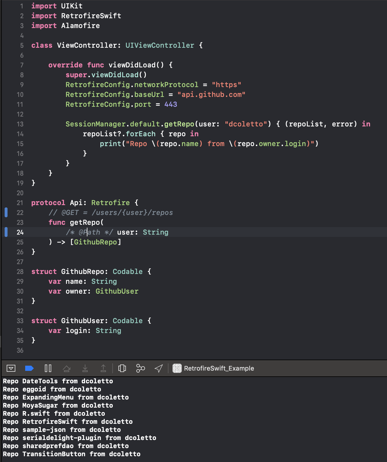 RetrofireSwift on CocoaPods org
