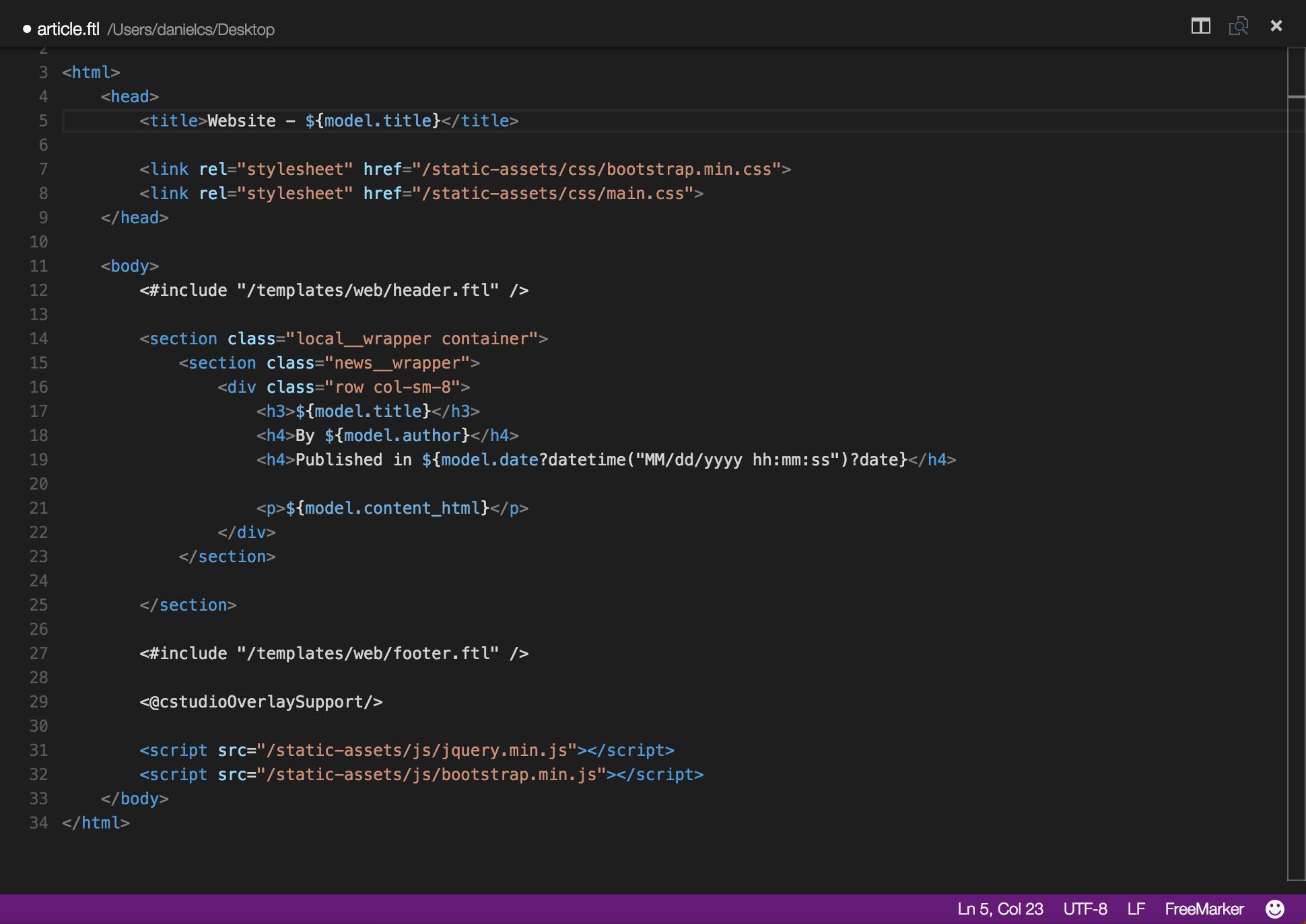 FreeMarker for Visual Studio Code – Daniel Cortes – Software ...