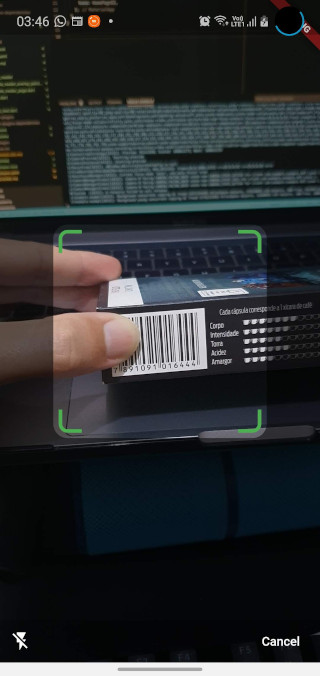 Default barcode capture page