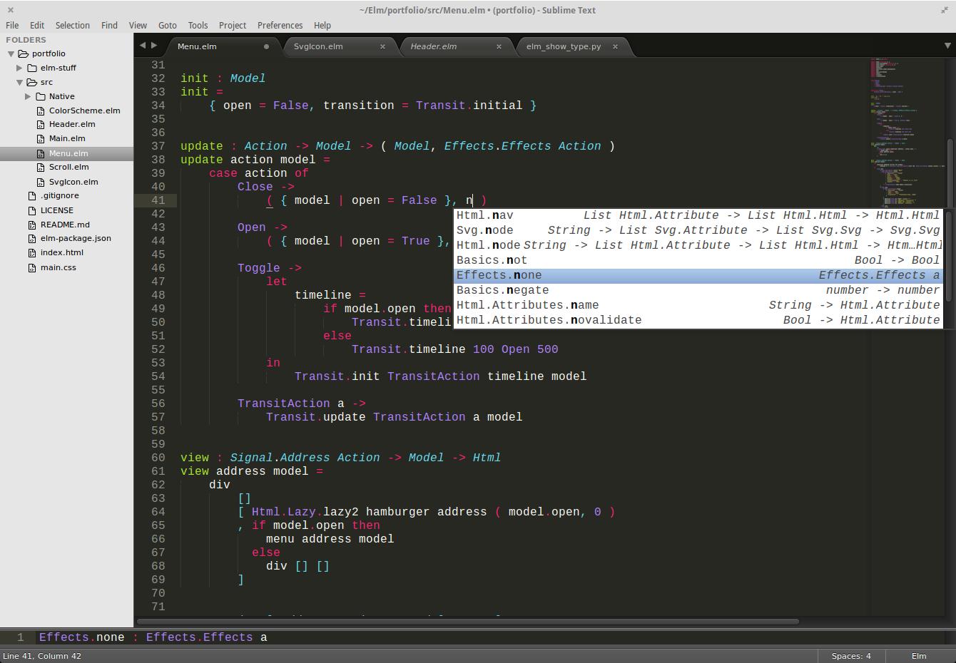 autocompletions screenshot