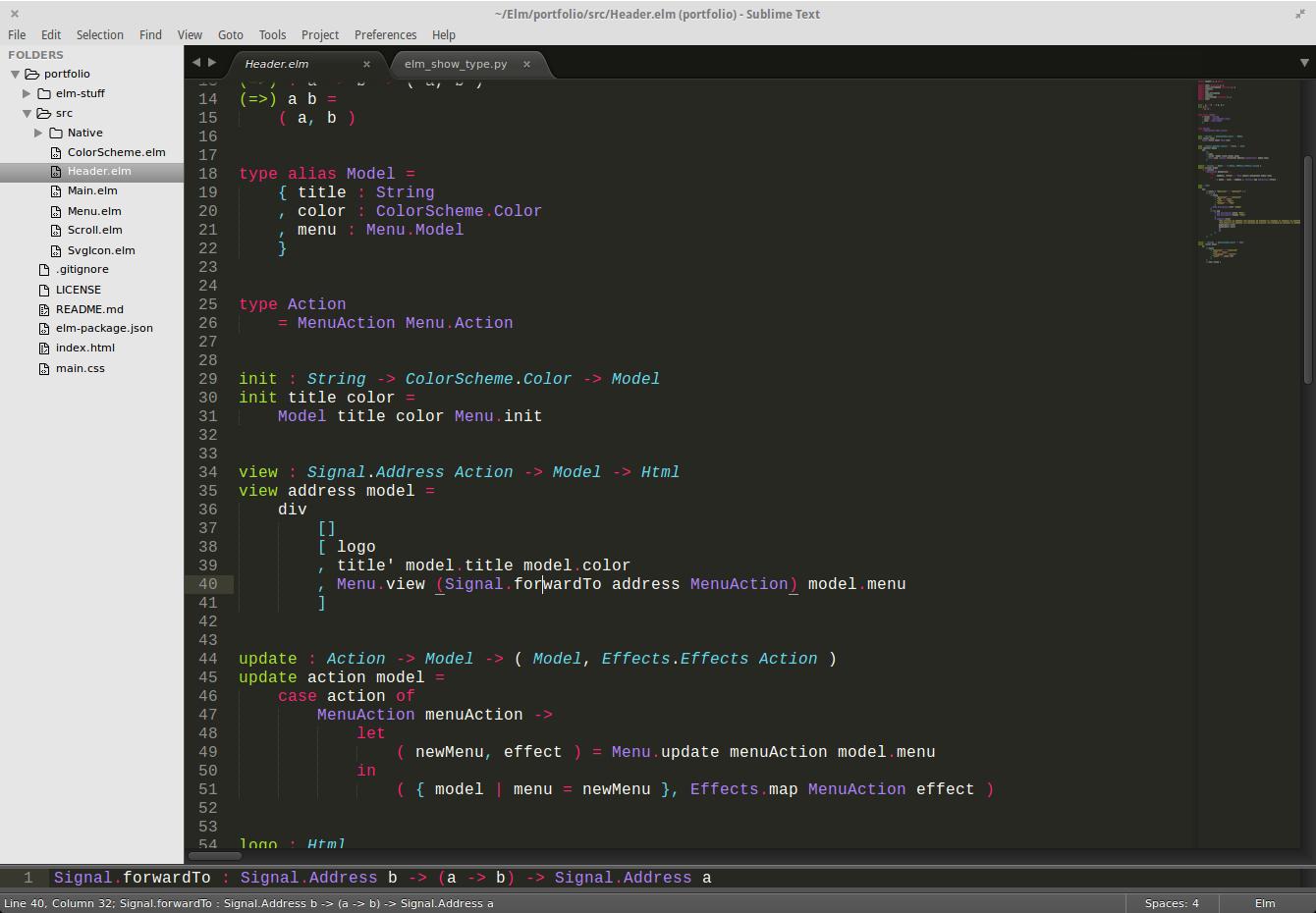 type signature screenshot