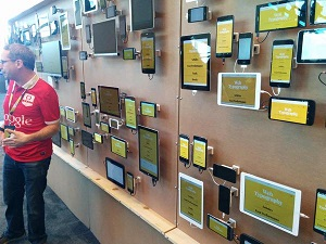 Google I/O Device Wall