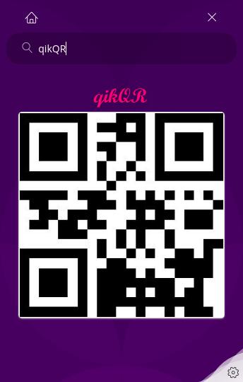 qikQR main page