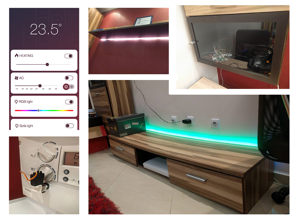 Home automation with Raspberry Pi, Node and React
