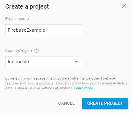 buat project firebase