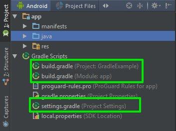 File Gradle yang terbentuk