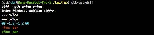 Unencrypted git diff output