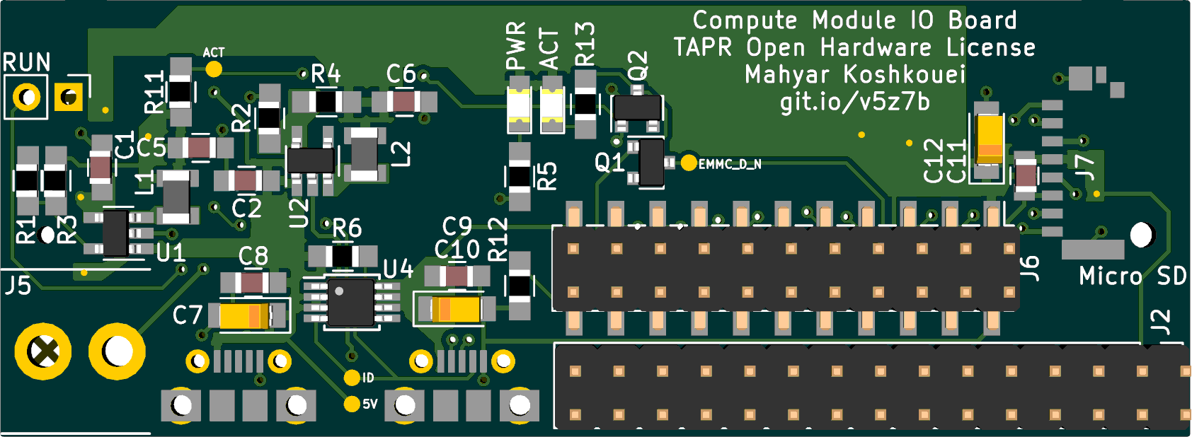 Preview of the front of the PCB