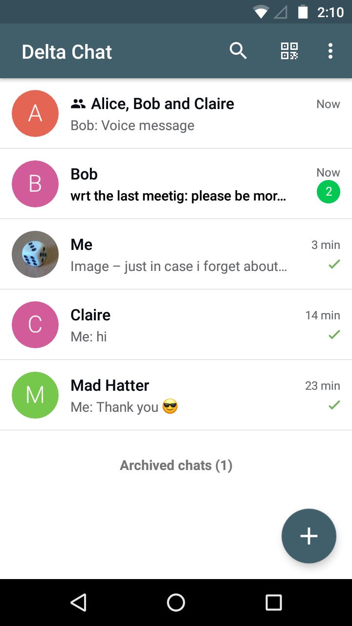 Screenshot Chat List