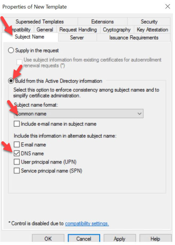 """""""CA settings"""""""