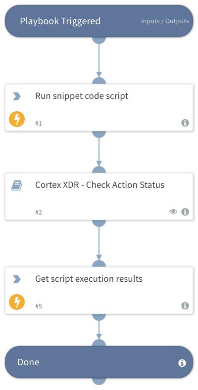 Cortex XDR - Execute snippet code script