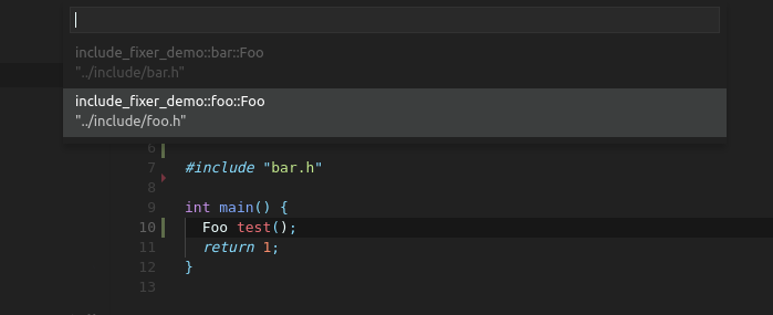 Image of vscode-include-fixer in action