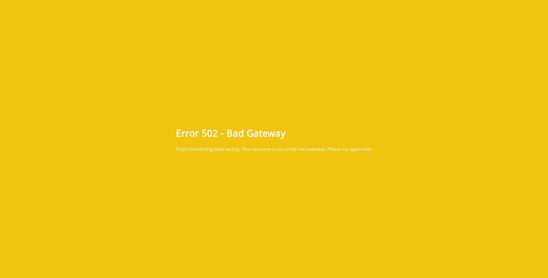 502 error page