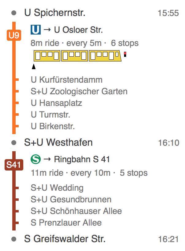 screenshot of vbb-journey-ui