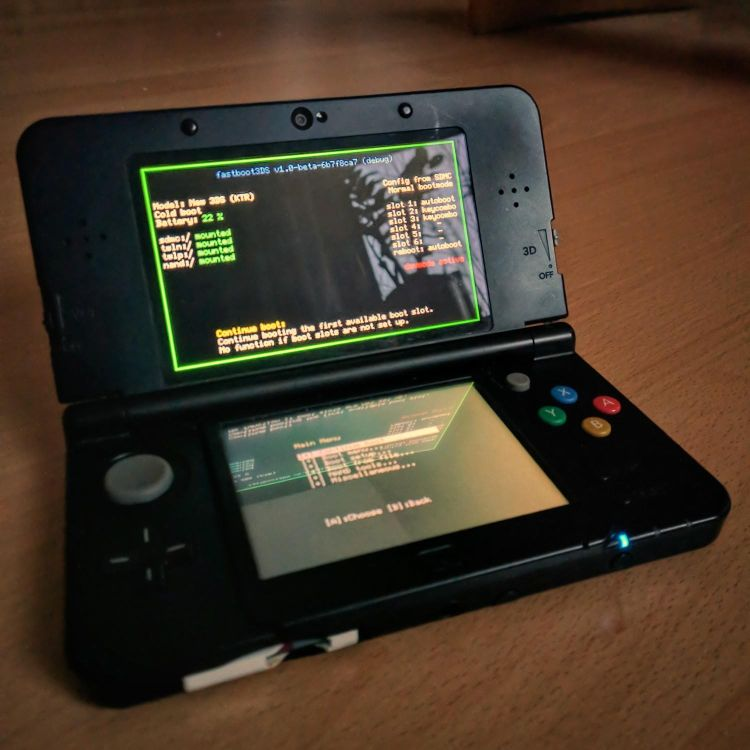 fastboot3DS on a real N3DS