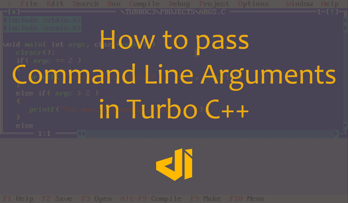How to pass Command Line Arguments in Turbo C++