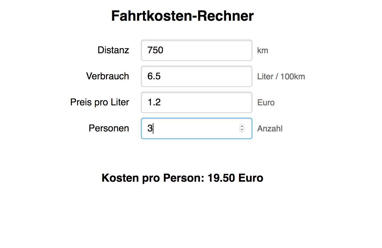 Bild von Fahrtkosten-Rechner